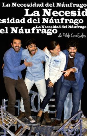 Cartel-LA-NECESIDAD-DEL-NÁUFRAGO-de-Pablo-CanoSales