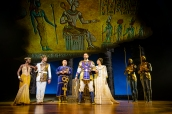 LtoR Tanisha Spring, Liam Tamne, Adam Pearce, Joe Dixon & Debbie Kurup in The Prince of Egypt, credit Matt Crockett ©DWA LLC