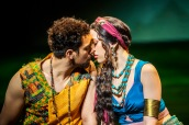 Luke Brady as Moses and Christine Allado as Tzipporah in The Prince Of Egypt, credit Tristram Kenton ©DWA LLCKenton